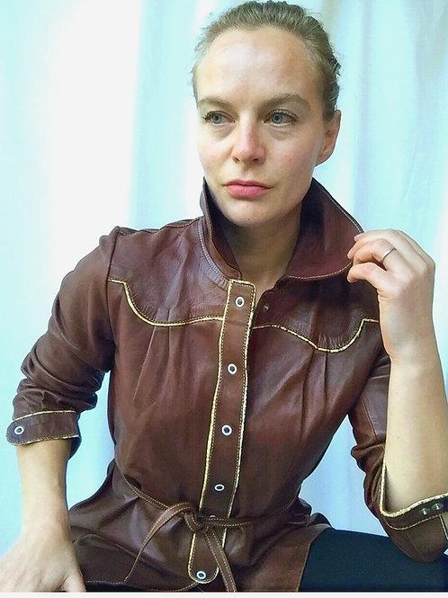 Butter soft leather shirt