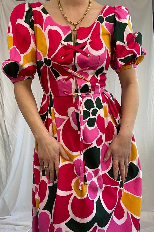 Elka couture print maxi dress