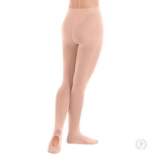 218 Eurotard  Convertible Mock Back Seam Tights with Soft Knit