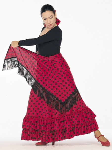 FL-14 Full Dotted Flamenco Skirt