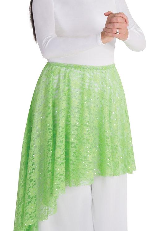 0627 Child Glitter Lace Asymmetrical Skirt