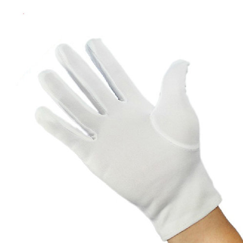 R451 Kids White Polyester Gloves