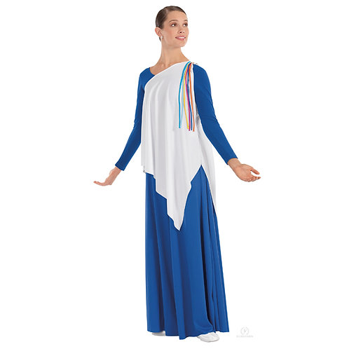 13844 Asymmetrical Streamer Tunic