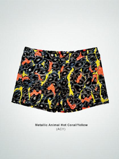 700(ACY) Metallic Animal Hot Coral/Yellow