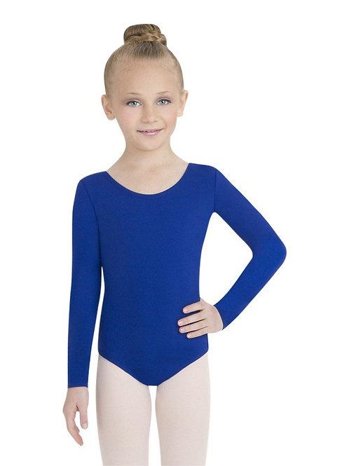 TB134C Child Nylon Long Sleeve Leotard