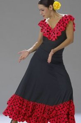 Dotted Ruffle Flamenco Skirt