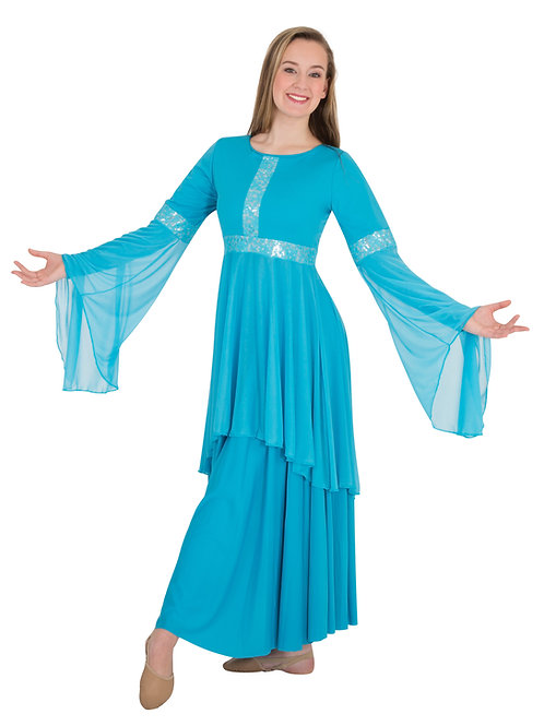 622 Drapey Lace Tunic