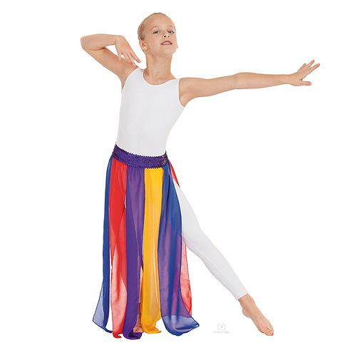 39808C Multi Colored Chiffon Streamer Skirt