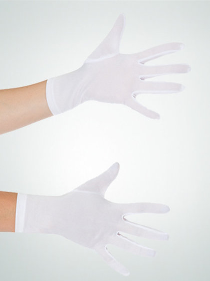 G203 White Polyester Gloves