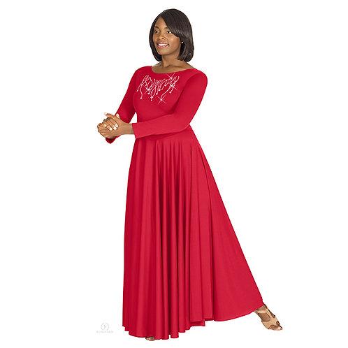 11024 Raining Cross Rhinestone Dress