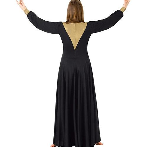 BT5196 Metallic Back Dress