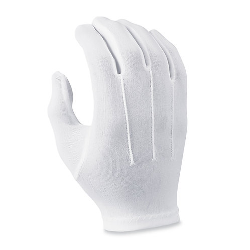 R333 Ladies White Polyester Gloves