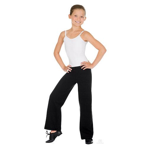 44555C Girls Micro Fiber Mid Rise Jazz Pant