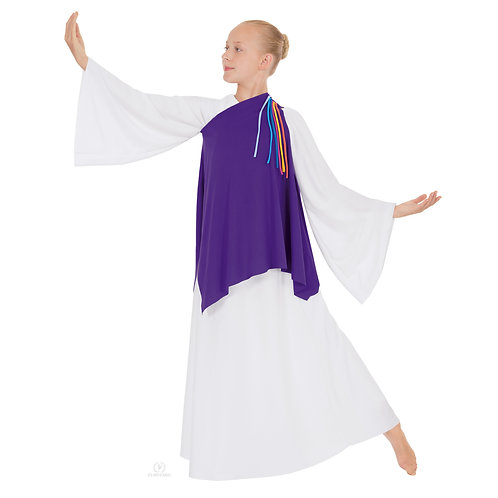 13844C Child Asymmetrical Streamer Tunic