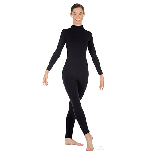 44132 Microfiber Mock Neck Unitard
