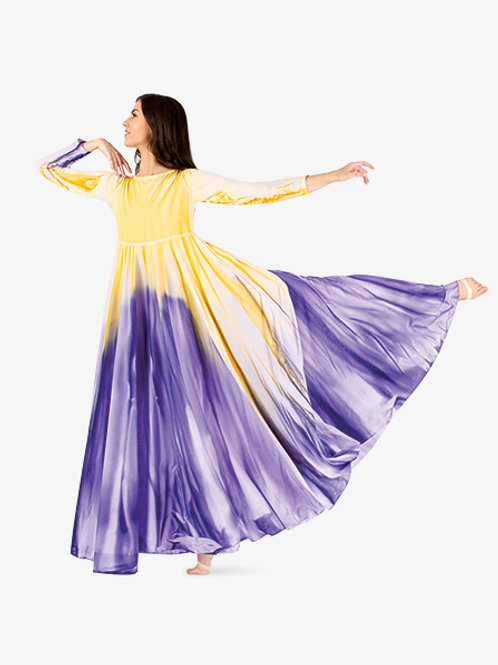 WC5190 Water Color Empire Dance Dress