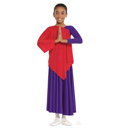 13826C Child One-Arm Asymmetrical Tunic