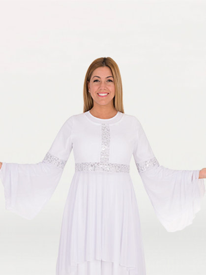 622 Drapey Lace Tunic