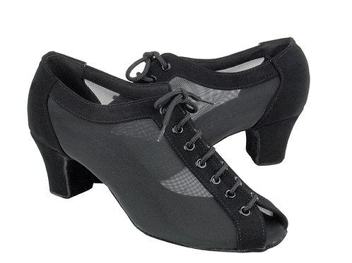 C1643 Black Nubuck and Mesh Ballroom Shoe