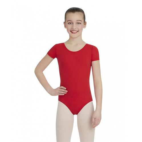 TB132C Child Nylon Short Sleeve Leotard
