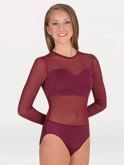 NL200 Competition Leotard With Power Mesh Body & Sleeves