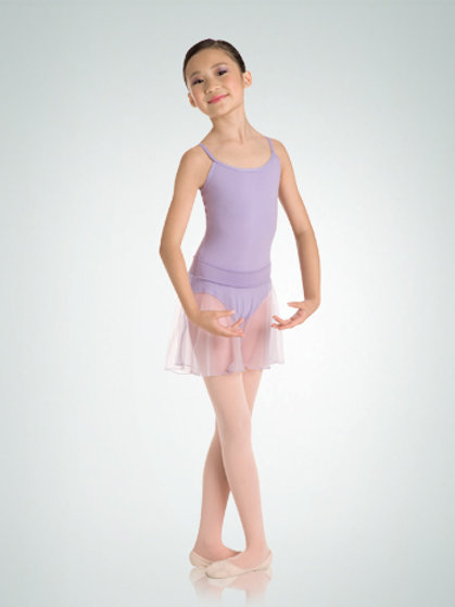 122R Medium Length Chiffon Tapered Pull-On Dance Skirt