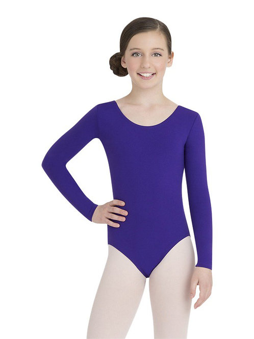 TB134C Child Nylon Long Sleeve Leotard