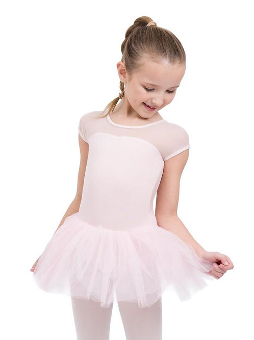 11394C Keyhole Back Tutu Dress