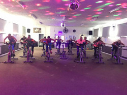 Spin class in action