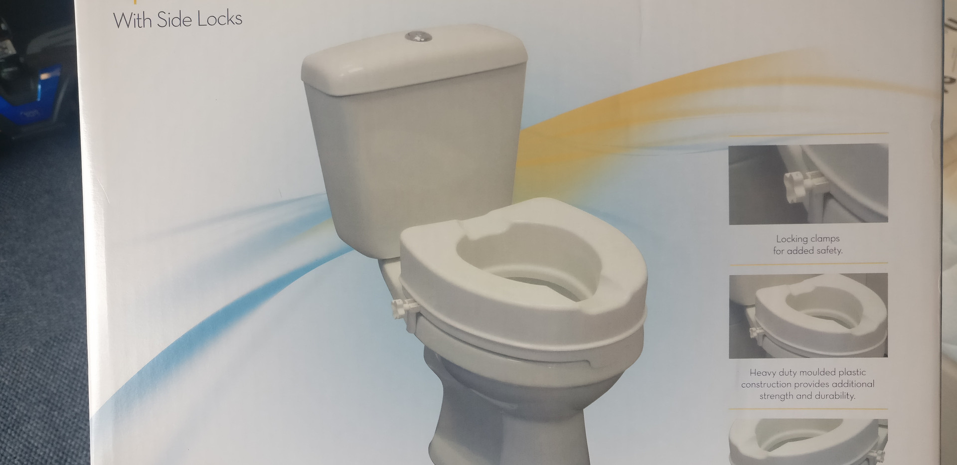 Raised mobility toilet seat