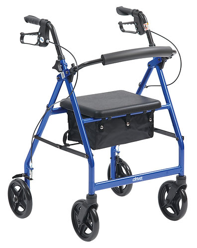 drive blue aluminium rollator side view
