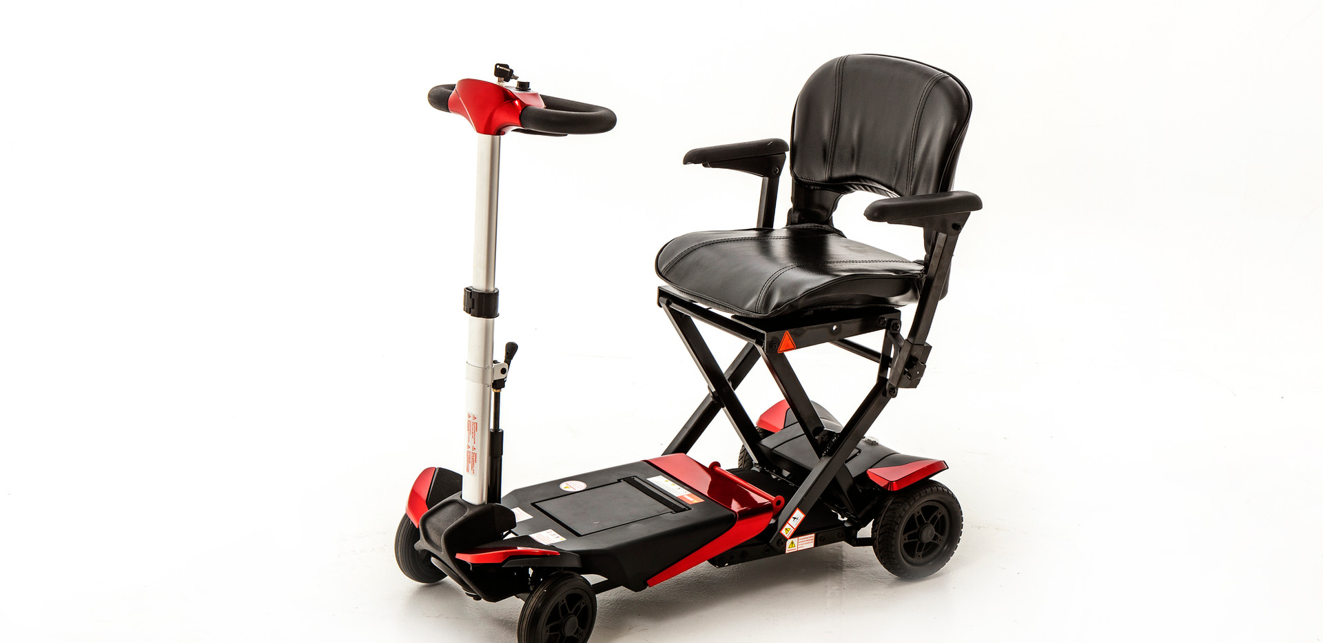 Monarch Smarti mobility scooter in red