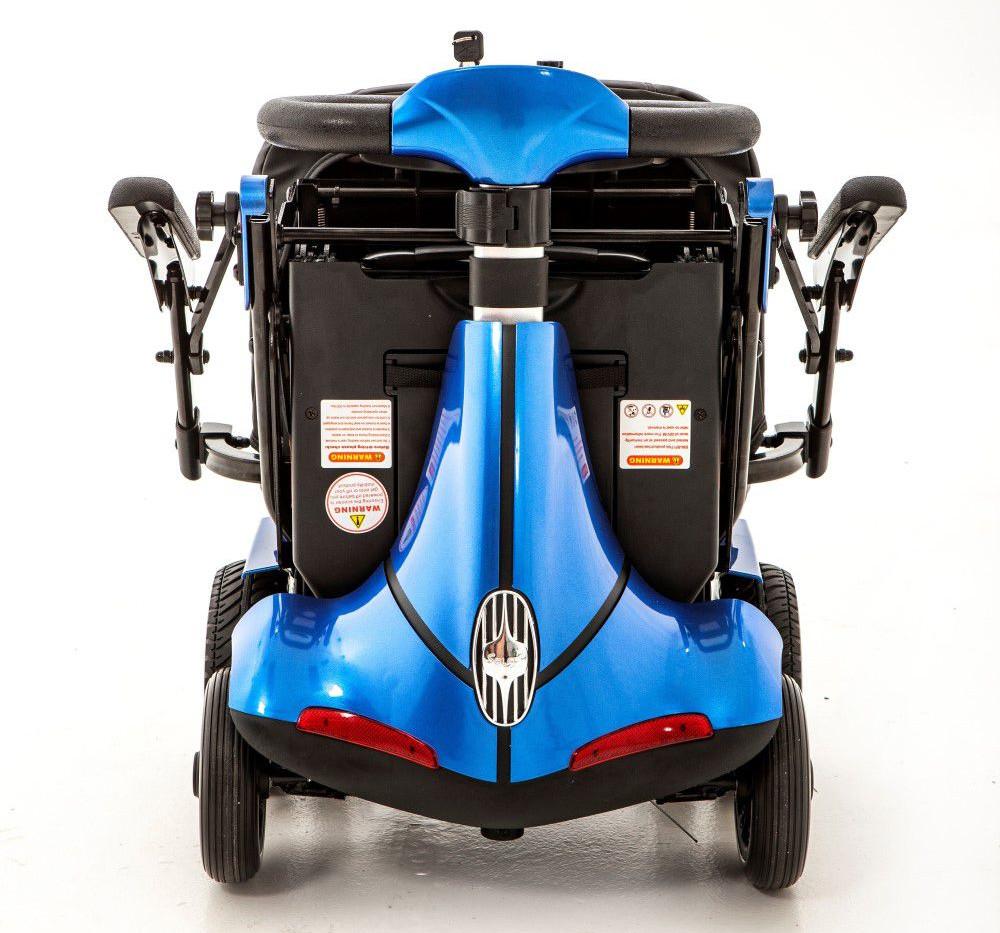Mobie Plus folding blue mobility scooter