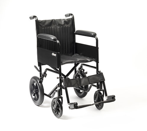 drive devilbiss healthcare black frame S1 Steel Transit Wheelchair
