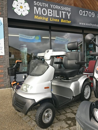 TGA Breeze silver 8 MPH mobility scooter