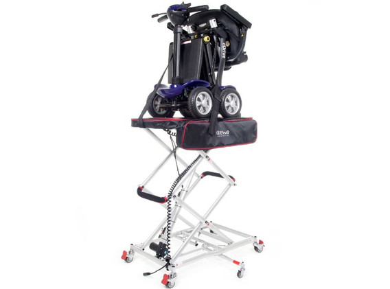 Elev8 with mobility scooter in elevatore