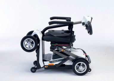 Invacare Scorpius A in white folded