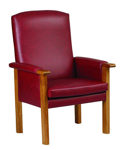 Marianne red leather fireside chair