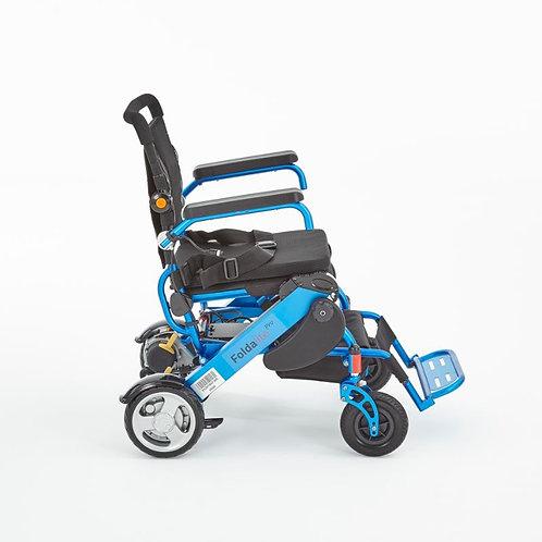 Motion blue foldalite pro powerchair side view