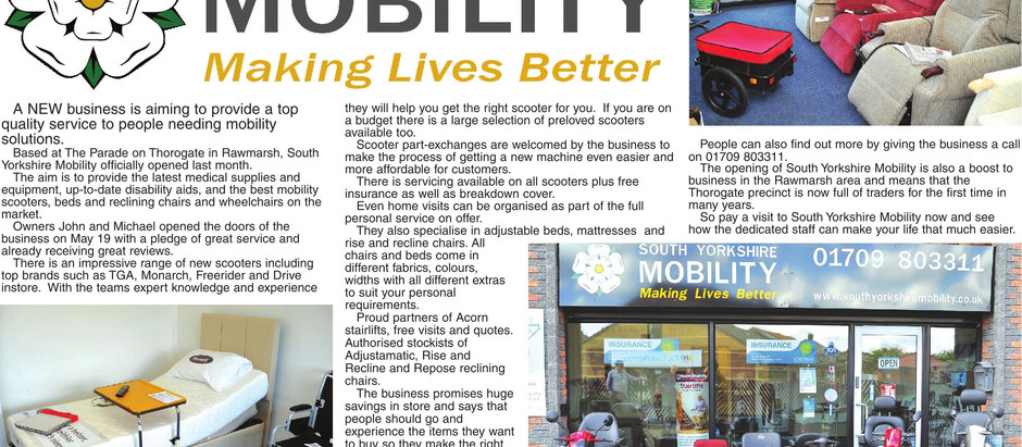 As Featured in the Rotherham Record