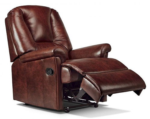 Sherborne Milburn rise and recline chair in brown leather
