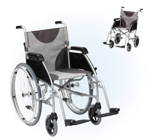 Drive Ultra Lightweight Aluminium Wheelchair with grey seat