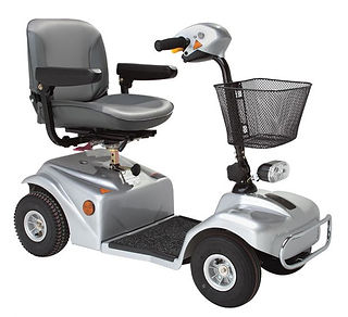 Rascal 388 mobility scooter in silver si