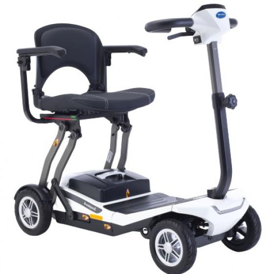Invacare Scorpius A in white from South Yorkshire Mobility