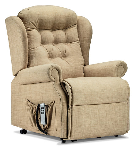 Sherborne Lynton material side view rise and recline chair