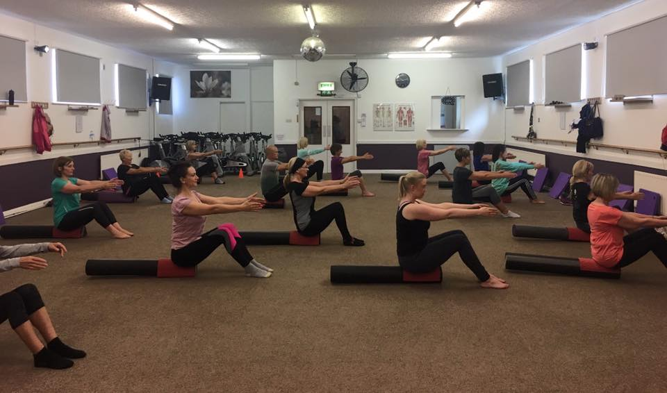 Pilates with foam roller. Dinnington Rotherham