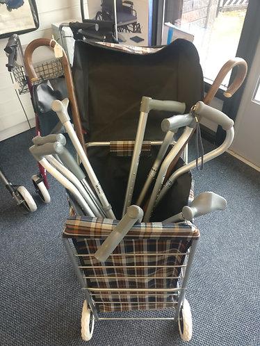 Large selection of walking sticks