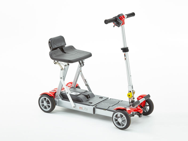 Motion Mlite folding red mobility scoote