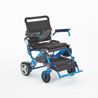 Motion foldalite blue folding wheelchair