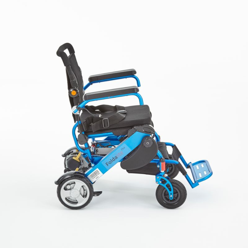 Motion foldalite blue folding wheelchair